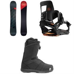 Nidecker Merc Snowboard + Nidecker Muon-X Snowboard Bindings + Nidecker Ranger Boa Snowboard Boots 2021