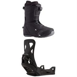 Burton Ruler Step On Snowboard Boots + Step On Snowboard Bindings 2021