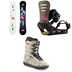 K2 Medium Snowboard + Formula Snowboard Bindings + Vans Hi Standard OG Snowboard Boots 2021