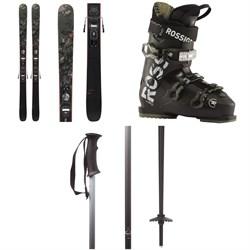 Rossignol Black Ops Smasher Skis + Xpress 10 GW Bindings + Evo 70 Ski Boots 2021 + evo Double-E Ski Poles 2020