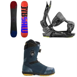 Rossignol Jibsaw Snowboard + Flow Fenix Snowboard Bindings + Nidecker Triton Focus Boa Snowboard Boots
