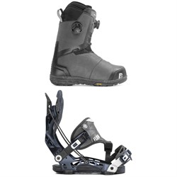 Nidecker Helios Focus Boa Snowboard Boots + Flow NX2 Hybrid Snowboard Bindings