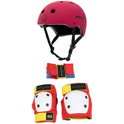 Pro-Tec The Classic Certified EPS Skateboard Helmet ​+ Street Gear Junior Skateboard Pads - Kids'