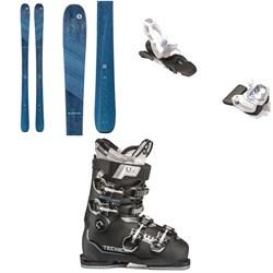 Blizzard Black Pearl 88 Skis - Women's + Tyrolia Attack² 11 GW Bindings + Tecnica Mach Sport HV 85 W Alpine Ski Boots - Women's 2021