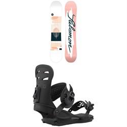 Salomon Lotus X Snowboard + Union Rosa Snowboard Bindings - Women's 2021