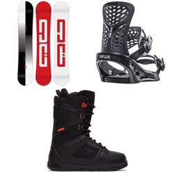 DC Focus Snowboard ​+ Flux PR Snowboard Bindings ​+ DC Phase Snowboard Boots 2021