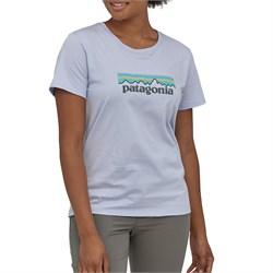 Patagonia Pastel P-6 Logo Organic Crew T-Shirt - Women's