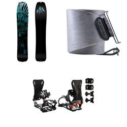 Jones Mind Expander Splitboard + Nomad Quick Tension Tail Clip Splitboard Skins + Karakoram PRIME NOMAD Splitboard Bindings 2021