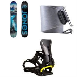 Jones Frontier Splitboard + Nomad Quick Tension Tail Clip Splitboard Skins + Karakoram PRIME Connect R Splitboard Bindings 2021