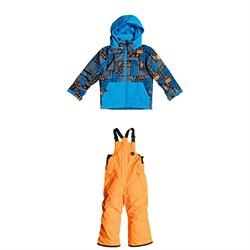 Quiksilver Little Mission Jacket + Boogie Bib Pants - Little Boys'