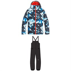 Quiksilver Mission Printed Jacket ​+ Utility Bibs - Boys'