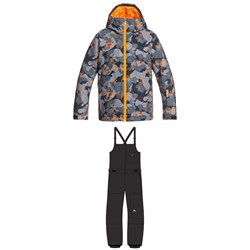 Quiksilver Mission Printed Jacket + Utility Bibs - Boys'