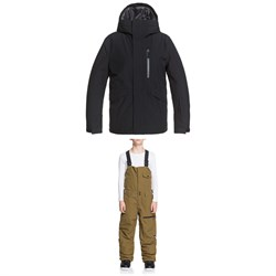 Quiksilver Mission Solid Jacket + Utility Bibs - Boys'