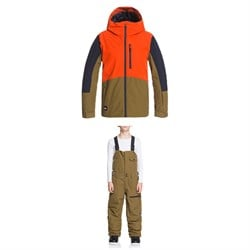 Quiksilver Ambition Jacket ​+ Utility Bibs - Boys'