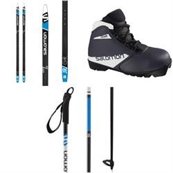 Salomon Aero Grip Jr Skis Cross Country Skis + Team Prolink Jr Boots + Escape Alu Jr  Poles - Kids' 2021