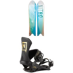 Nitro The Quiver POW Snowboard ​+ Team Pro Snowboard Bindings 2021