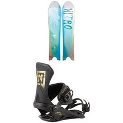 Nitro The Quiver POW Snowboard + Team Pro Snowboard Bindings 2021