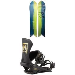 Nitro The Quiver Fintwin Snowboard + Team Pro Snowboard Bindings 2021