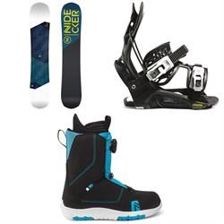 Nidecker Merc Snowboard + Flow Micron Youth Snowboard Bindings + Nidecker Micron Boa Snowboard Boots - Kids' 2022
