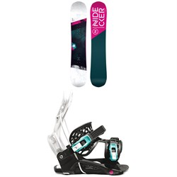 Nidecker Flake Snowboard ​+ Flow Micron Youth Snowboard Bindings - Kids' 2021
