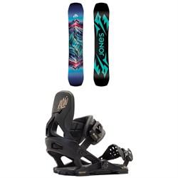 Jones Twin Sister Snowboard + Now Vetta Snowboard Bindings - Women's 2021