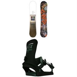 Dinosaurs Will Die Geeves Snowboard + Fix Truce Snowboard Bindings 2021
