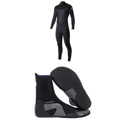 Rip Curl 4​/3 Dawn Patrol Back Zip Wetsuit ​+ Dawn Patrol 3mm Round Toe Boots