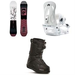 Rome Royal Snowboard + Rome Shift Snowboard Bindings + thirtytwo Shifty Boa Snowboard Boots - Women's 2020