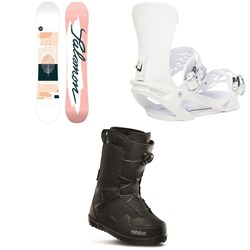 Salomon Lotus X Snowboard 2021 + Vendetta X Snowboard Bindings 2021 + thirtytwo Shifty Boa Snowboard Boots - Women's 2020