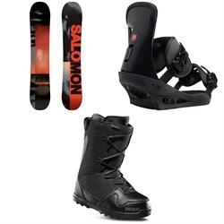 Salomon Pulse Snowboard  + Burton Freestyle Snowboard Bindings 2019 + thirtytwo Exit Snowboard Boots 2019