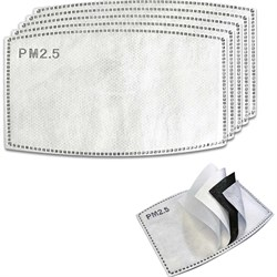 Coal PM 2.5 Carbon Filter Face Mask - 3 x 5-Pack