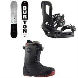 Burton Process Flying V Snowboard  + Cartel EST Snowboard Bindings  + Ruler Boa Snowboard Boots 2019