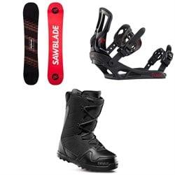 Rossignol Sawblade Snowboard 2020 + Battle Snowboard Bindings  + thirtytwo Exit Snowboard Boots 2020