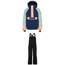 O'Neill Anorak Jacket - Girls' + Bib Snow Pants - Kids'