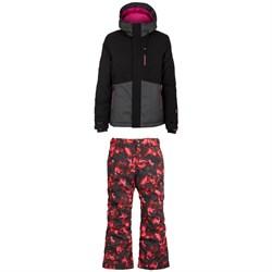 O'Neill Coral Jacket + Charm AOP Pants - Girls'