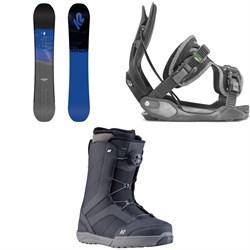 K2 Raygun Snowboard + Flow Alpha Snowboard Bindings + K2 Raider Snowboard Boots