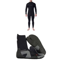 Rip Curl 4​/3 Dawn Patrol Chest Zip Wetsuit ​+ Dawn Patrol 3mm Split Toe Boots