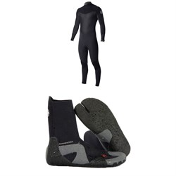 Rip Curl 4​/3 Dawn Patrol Back Zip Wetsuit ​+ Dawn Patrol 3mm Split Toe Boots