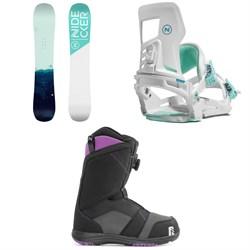 Nidecker Elle Snowboard + Muon-W Snowboard Bindings + Maya Boa Snowboard Boots - Women's 2021