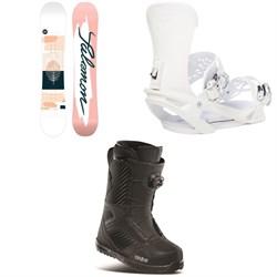 Salomon Lotus X Snowboard + Vendetta X Snowboard Bindings + thirtytwo STW Boa Snowboard Boots - Women's 2021