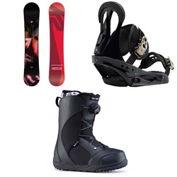 K2 First Lite Snowboard  ​+ Burton Citizen Snowboard Bindings 2019 ​+ Ride Harper Snowboard Boots - Women's