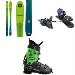 Blizzard Zero G 95 Skis + Dynafit ST Radical Alpine Touring Ski Bindings + Tecnica Zero G Tour Scout Alpine Touring Ski Boots