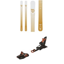 Black Crows Daemon Birdie Skis - Women's ​+ Marker Kingpin 10 Alpine Touring Ski Bindings