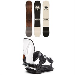 Arbor Coda Camber Snowboard + Cypress LTD Snowboard Bindings