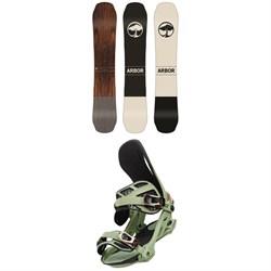 Arbor Coda Camber Snowboard + Cypress Snowboard Bindings