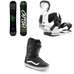 CAPiTA Horrorscope Snowboard + Union Flite Pro Snowboard Bindings + Vans Aura OG Snowboard Boots 2021