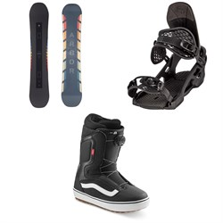 Arbor Formula Camber Snowboard + Spruce Snowboard Bindings + Vans Aura OG Snowboard Boots 2021