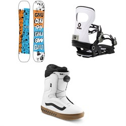 GNU Money C2E Snowboard ​+ Bent Metal Joint Snowboard Bindings ​+ Vans Aura OG Snowboard Boots 2021