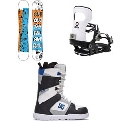 GNU Money C2E Snowboard ​+ Bent Metal Joint Snowboard Bindings ​+ DC Phase Snowboard Boots 2021