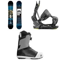 Rome Reverb Rocker SE Snowboard 2019 + Flow Fenix Snowboard Bindings  + Nidecker Aero Boa Coiler Snowboard Boots